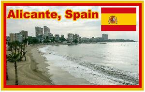 Alicante,Spagna - Souvenir Novità Calamita Frigo - Viste / Bandiera /