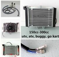 Radiator Engine Cooler + Fan for 150CC 200CC 250CC BUGGY ATV QUAD BIKE GO KART