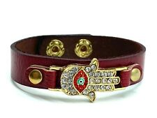 Lucky Eye Leather Hamsa Bracelets #2942