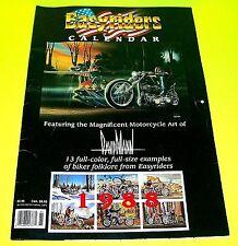 EASYRIDERS MAGAZINE 1988 DAVID MANN Calendar 13 Full Size & Color Pieces of Art!