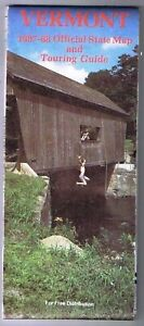 Vermont Official State Road Map & Touring Guide 1987-88