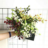 1PC Fake Artificial Berry Flower Plant Holly Branch Wedding Xmas Party Decors