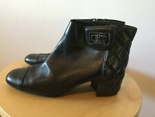chanel ankle boots 39 Black With Shoe Bags