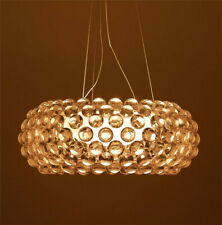 Modern Amber Transparent Ball Pendant Lamp Ceiling Light Chandelier Dining