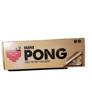 Portable Mini Beer Pong Adult Drinking Party Game - NEW in BOX