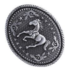 Pattern Oval Buckles for Men Women Western Rodeo Horse Belt Buckle Engraved