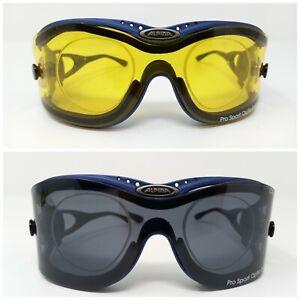 Alpina Ceramic Pro Sport Optic Swing 60 W/ Two Clip On Covers Prescription Glass