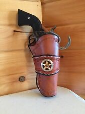 Western Leather Gun Holster  Single&double Action Revolver CROSS DRAW Sass