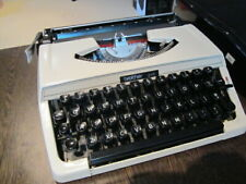 Cool Vintage Brother 215 Portable Typewriter with Case - Made In Japan