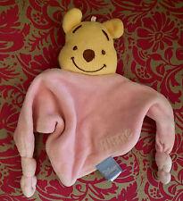 E # Doudou plat Triangle rose OURS  Winnie L'ourson Disney Baby GSA TBE