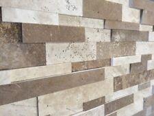 Wand Verkleidung Verblender Klinker Stein Travertin Muro Mix Muster Wohnrausch