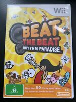 BEAT THE BEAT RHYTHM PARADISE NINTENDO Wii AUS PAL VGC WORKS ON Wii U No Manual