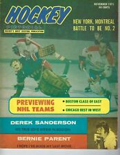 1971 Hockey Pictorial magazine New York Rangers Montreal Canadiens GOOD