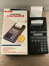Vintage VERATRON Palm Printer Calculator AT-714 In Original Box Excellent