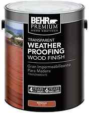 502 Redwood Transparent Weatherproofing Wood Finish Brush-On Deck Exterior Stain