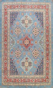 Vegetable Dye Super Kazak Geometric Oriental Area Rug Hand-Knotted Wool 10x14