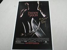 Ken Kirzinger signed Freddy vs Jason 11x17 Movie Poster Jason Voorhees Autograph
