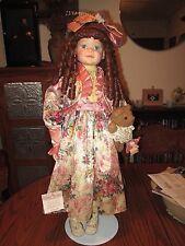 "Large 28"" Vintage Soft Expressions fine porcelain Doll ""Meredith"" * Coa & Box"