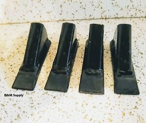 """4 pack of Box blade scape blade ripper shanks points tips for 3/4"""" thk shanks"""
