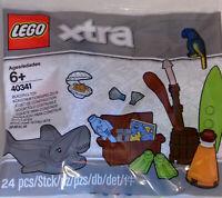 Lego Xtra 40341 Wasserzubehör 24 tlg. Hai Fisch Muschel Papagei Polybag Neu #10