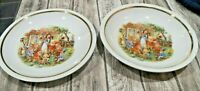 """Beautiful Russian Snow White & 7 Dwarfs 7 5/8"""" in Diam. Plate & Bowl by 1 3/8"""" H"""