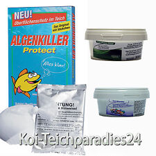 Algenkiller Protect 150g für 10.000 Liter + 2 Teichpflege Produkte Gratis