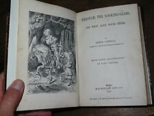 1872 THROUGH THE LOOKING GLASS & WHAT ALICE FOUND THERE BY LEWIS CARROLL 1st ED