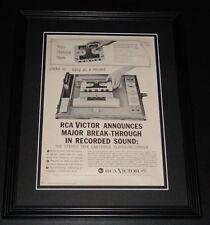 1959 RCA Victor Tape Recorder 11x14 Framed ORIGINAL Vintage Advertisement Poster