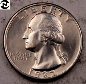 1932 Washington Quarter // Gem BU // 90% Silver // 1 Coin