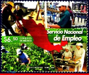2597 MEXICO 2008 NATL. EMPLOYMENT SYSTEM, JOBS, AGRICULTURE, MNH