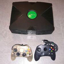 Microsoft Xbox PAL Spielekonsole - Schwarz mit 2 Controllern