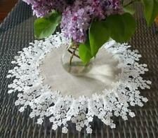 Doily 16 inch Flower Lace  Neutral Burlap Natural Floral Daisy
