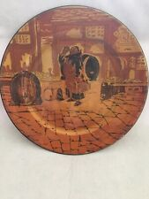 Vintage Royal Doulton 'Drinking Friar' in an alley of Nome,Italy Collector Plate