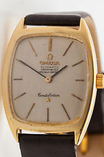 Vintage $6000 OMEGA Constellation Automatic 18k Yellow Gold Mens Watch WARRANTY
