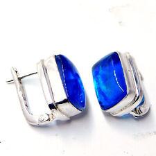 Australian Triplet Opal 925 Sterling Silver Plated Jewelry Women Earring 7 Gm-N1