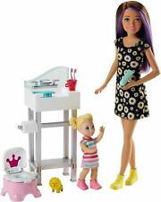 Barbie Skipper Babysitters inc Teenage and Kid Dolls Potty Training Payset New