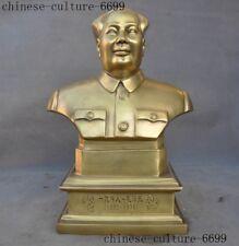 Chinese brass ideologist statesman Leader Mao Ze Dong Chairman Half body Statue