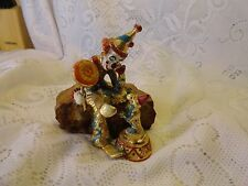 Circus Clown sitting on Ball Ron Lee Clown on Onyx 24kt Plate Statue