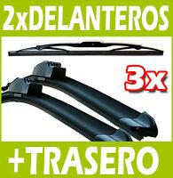 3 Escobillas Limpiaparabrisas Delanteros y Trasero para Opel ZAFIRA 1998-2005