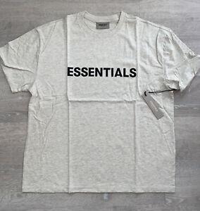 FOG - Fear Of God Essentials Oatmeal T-shirt Men's Size Large (FW20) New