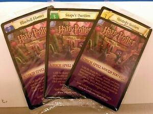 Harry Potter TCG Screen Snacks Promo Set of 3 Cards SEALED in Package!