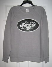 NWT VICTORIA'S SECRET PINK NFL NEW YORK JETS XS BLING SEQUIN CREW  SWEATSHIRT