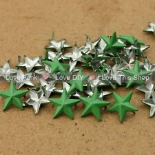 150pcs 15mm DIY Green Star Rivet Punk Bag Belt Leathercraft Bracelets Clothes