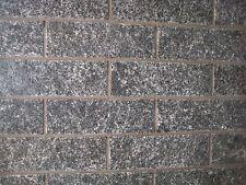 Granit Spalt Verblender für Wandverkleidung + Haussockel - 31x15cm zum kleben
