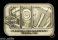 HARLEY DAVIDSON 110TH ANNIVERSARY YORK VEHICLE OPERATIONS PIN *NR* SUPER RARE