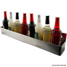 Syrup Bottle Organizer - Stainless Steel - Easy Mount - Holds 9 Bottles! - 32 in