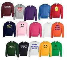 Sweatshirt Plain or personalised Sweat Shirt Jumper S to 7XL plus sizes #2W