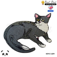 Grey Cat Disney Embroidered Iron On Sew On PatchBadge For Clothes etc