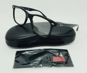 RAY BAN gloss black HIGHSTREET RB5248 2000 51 EYEGLASSES FRAMES! NEW! (Large)