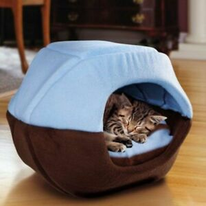 Cat Dog Bed House Foldable Soft Warm Winter Puppy Cave Sleeping Mat Pad Kennel